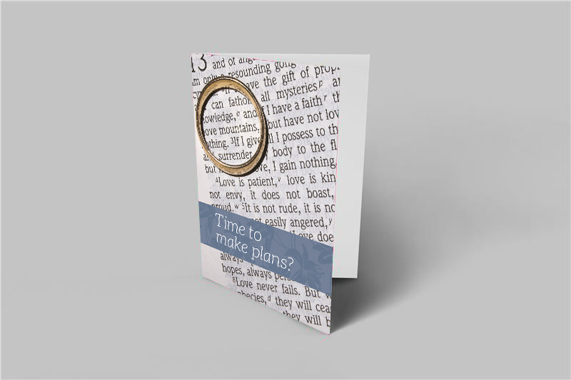 Covid Weddings Invitation to Plan Card - Ring