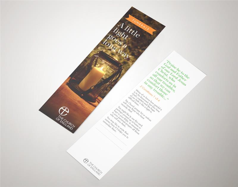 Funerals Congregation Prayer Bookmark