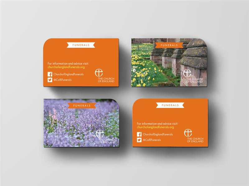 Funerals Website Business Card