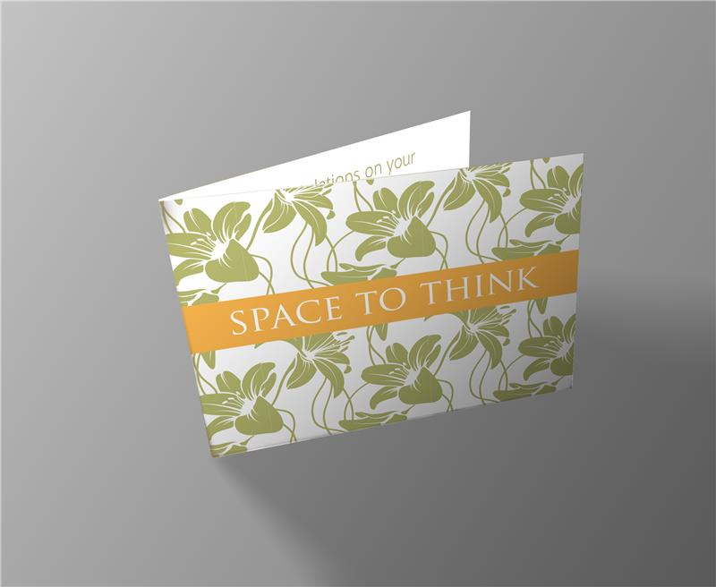 Weddings Space To Think Invitation Card
