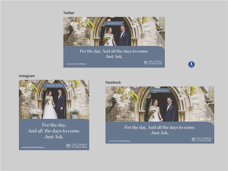 Just Ask Weddings Social Media Graphics