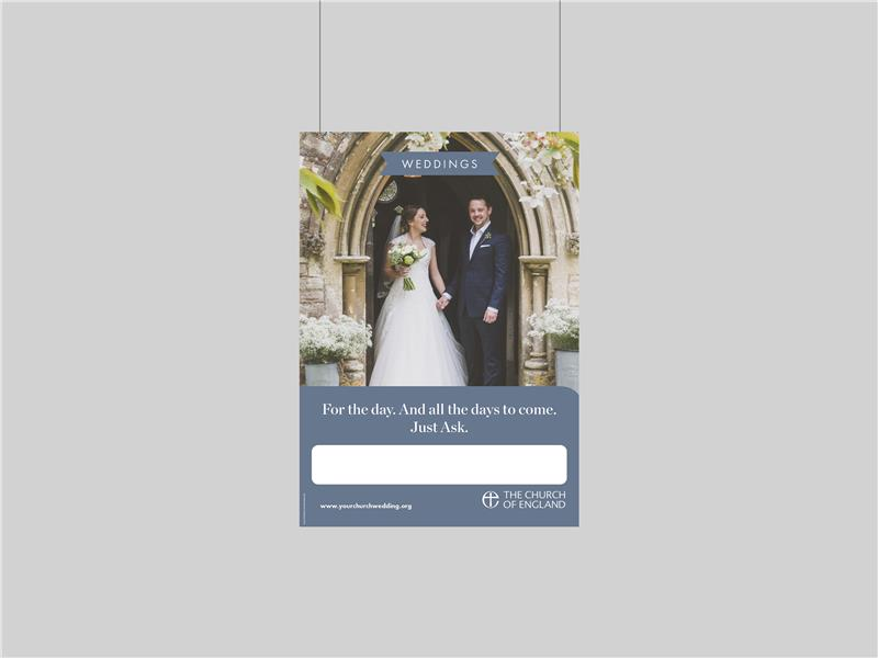 Just Ask Customisable Weddings Poster