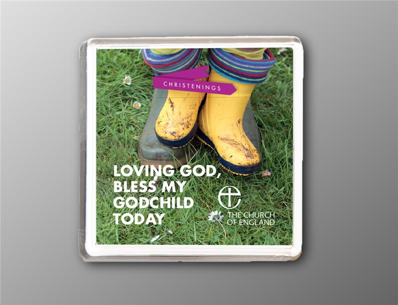 Christenings - Fridge Magnet Gift for Godparents