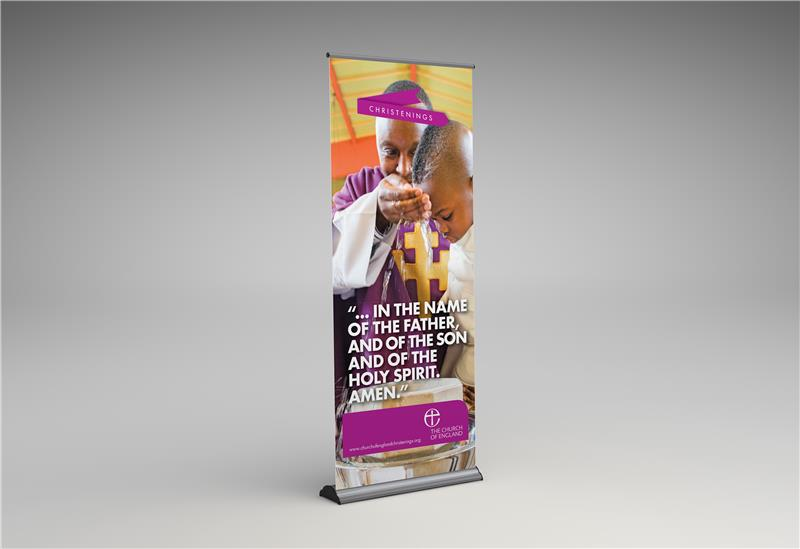 Christenings Decorative Stand-up Banner I