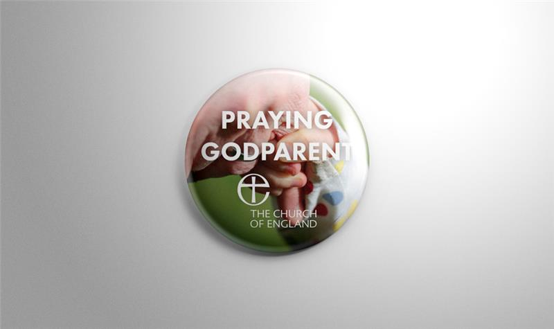 Christenings Godparent Pin Badges
