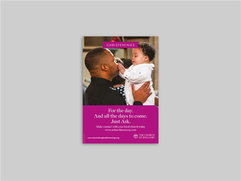 Just Ask Christenings Poster